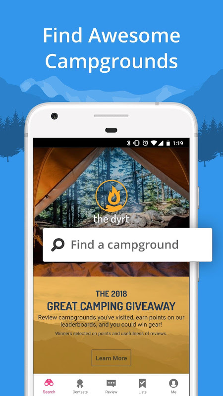 The Dyrt Camping App: Tent & RV Campsites Finder