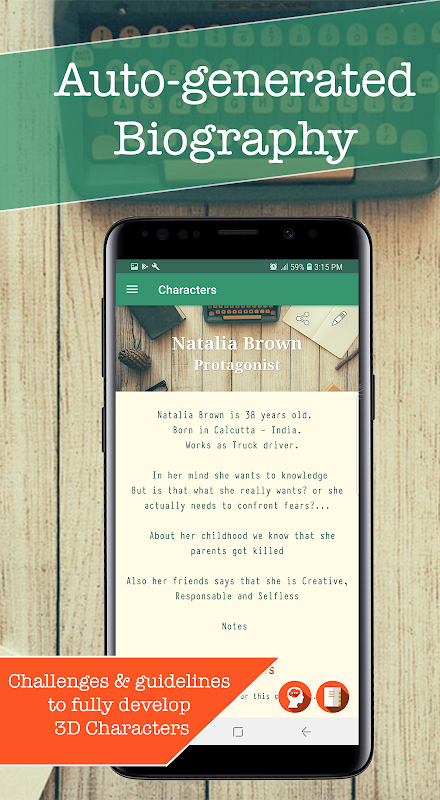 Auctor: Story & Character Generator | Writing app