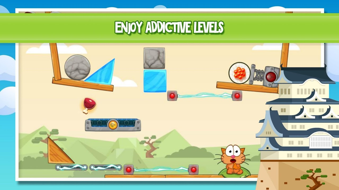 Hungry cat: physics puzzle game