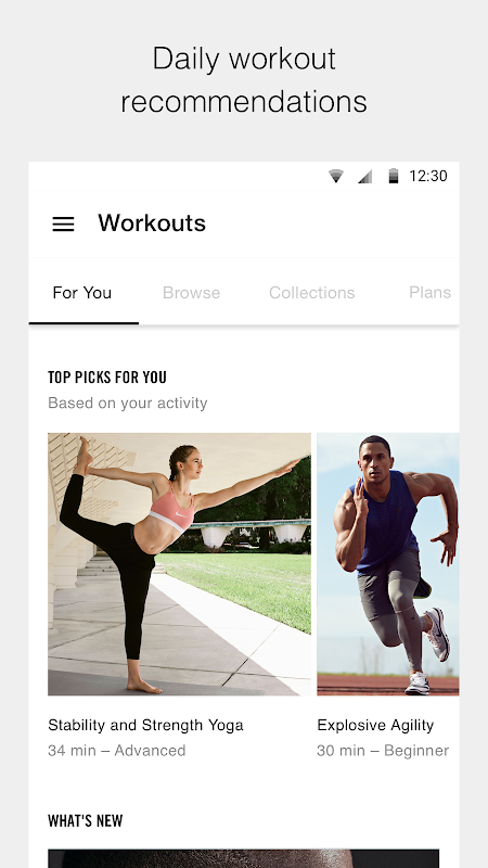Nike Training Club – Home workouts & fitness plans