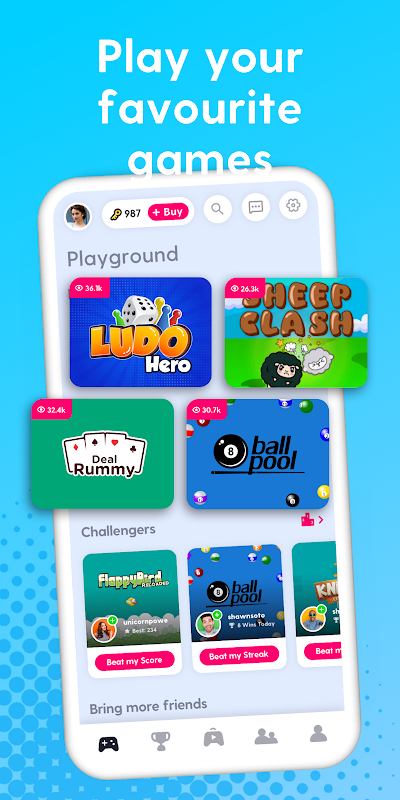 Joyride: play games and make friends