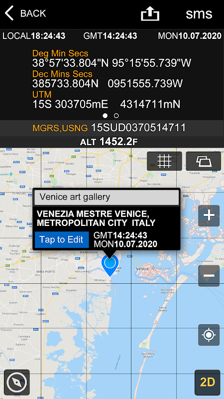 GPS Location Info, SMS Coordinates, Compass +