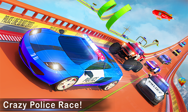 Police Car Stunts Racing: Ramp Car New Stunts Game