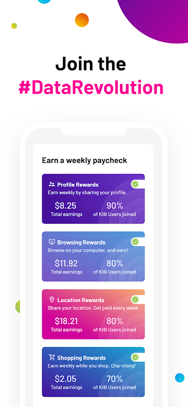 Killi – earn rewards for protecting your data