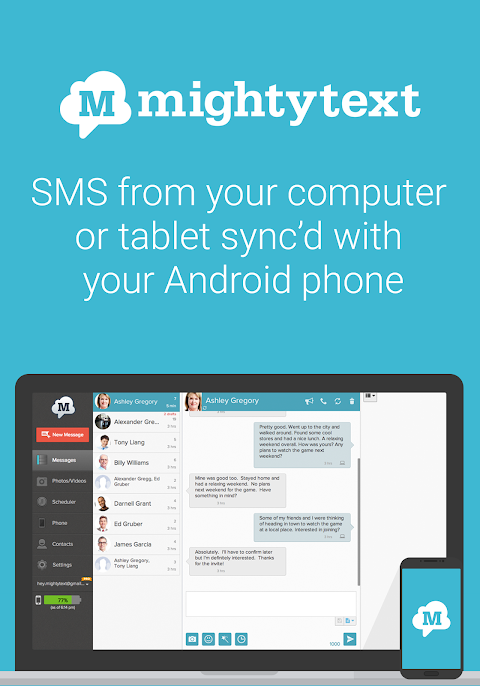 SMS from PC / Tablet & Sync Text from Computer