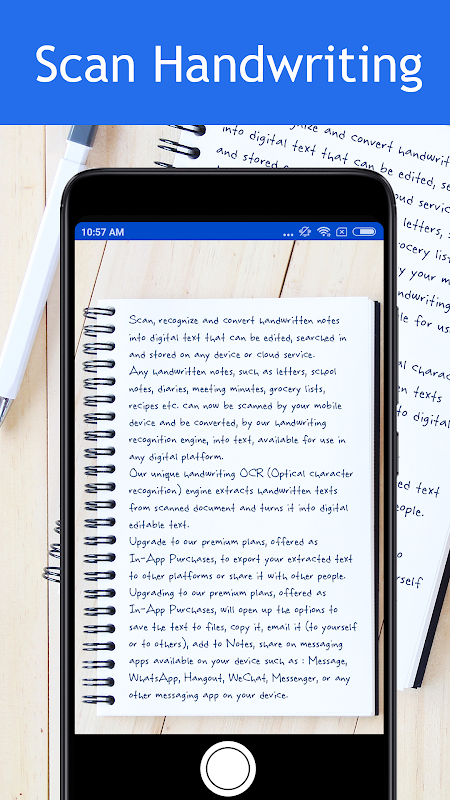 Pen to Print – Scan handwriting to text
