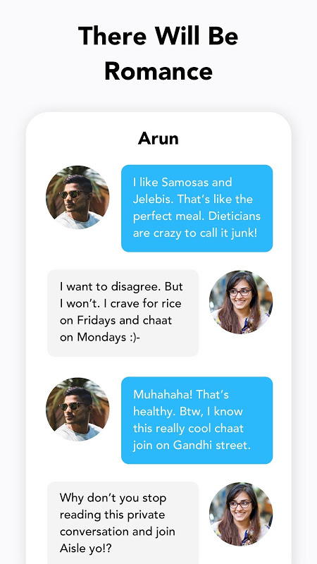 Aisle — Dating App For Indians