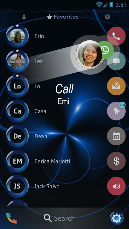 Spheres Blue Contacts & Dialer Theme