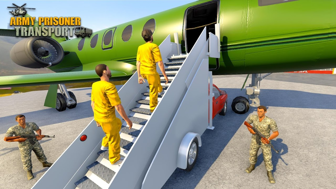 Army Prisoner Transport: Truck & Plane Crime Games