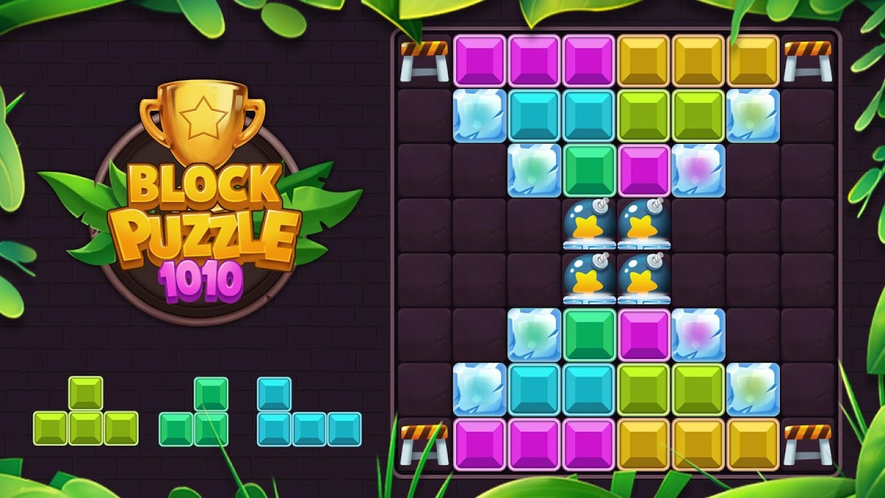 Classic Block Puzzle Game 1010: Free Cat Pop Game
