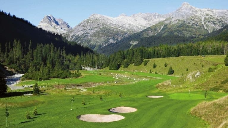 Lech Golf Course Red Wall