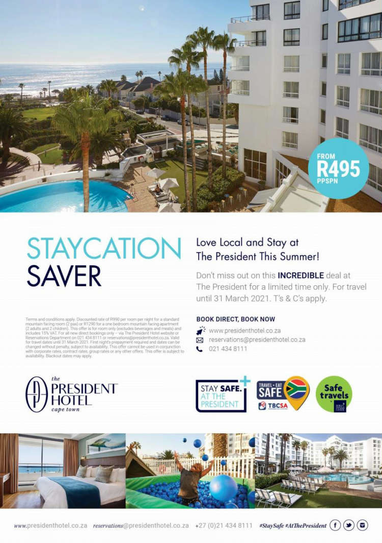 Love local and stay safe at the President Hotel this summer