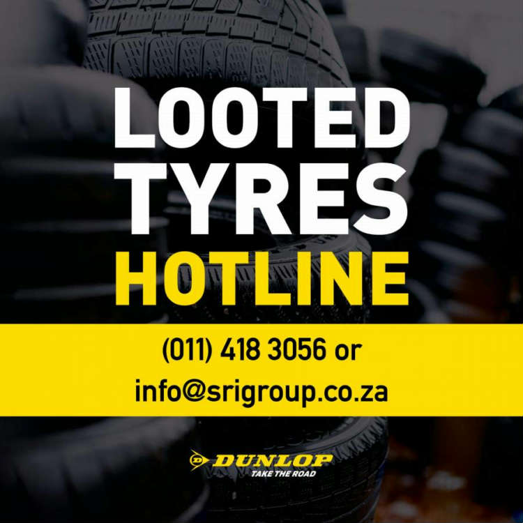Looted Tyres Hotline