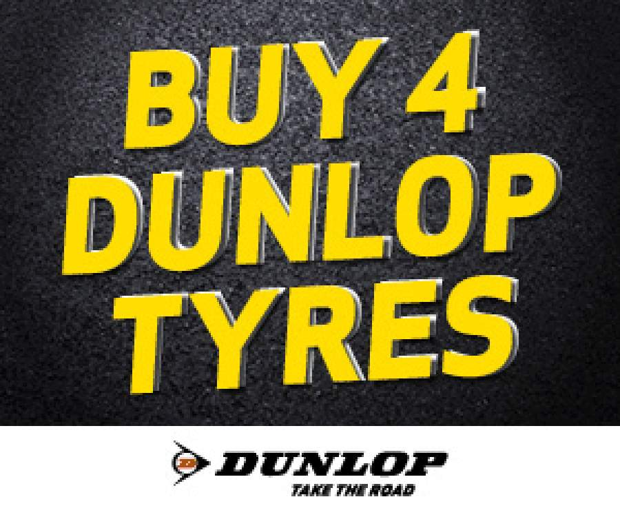 Buy 4 Dunlop tyres and get a Takealot Voucher of up to R350