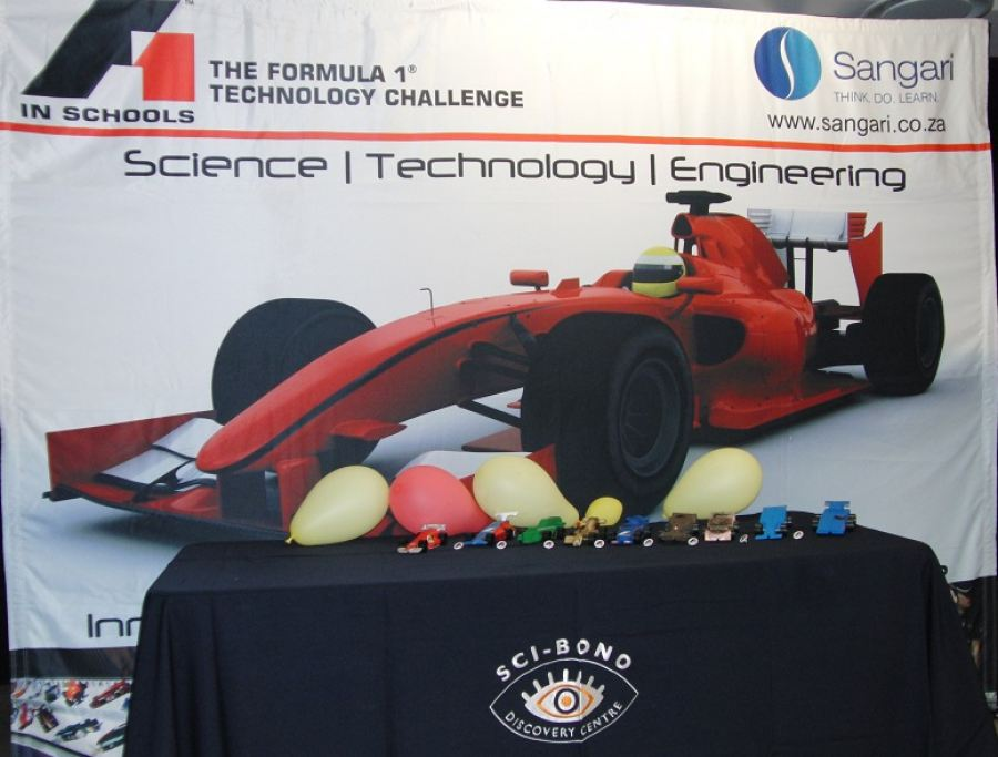 F1 model cars designed and manufactured by teams for the F1 in Schools Competition