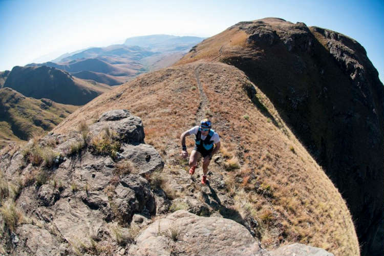Christiaan Greyling sets high standards at the Cathedral Peak Challenge.