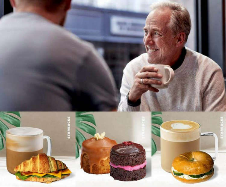 Pampering dads with Starbucks treats on Father's Day