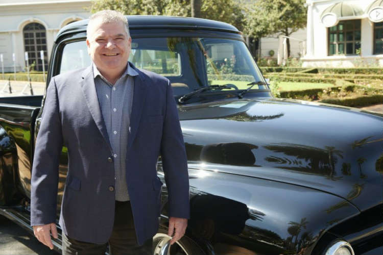 A beaming Clive Tavener (General Manager of Emperors), of Greenstone stand next to the custom built Ford F-100, which is up for grabs in the Touch of Classic promotion.