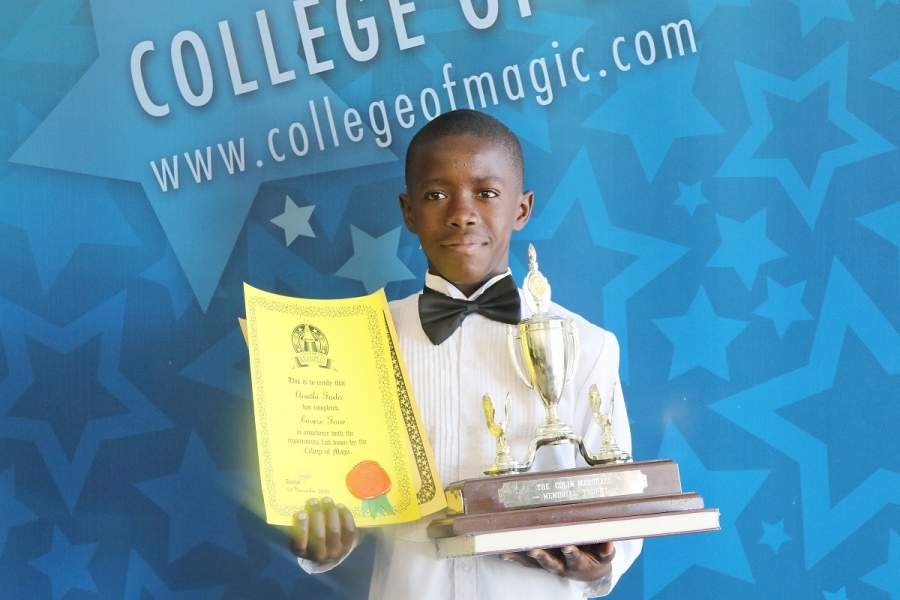 Phillipi's agile teen juggler Anathi Fodo has won the College of Magic's prestigious Colin Marshall Memorial Trophy for the second time, along with his fellow students, for a gravity-defying lockdown jugglers'act that enthralled global audiences!