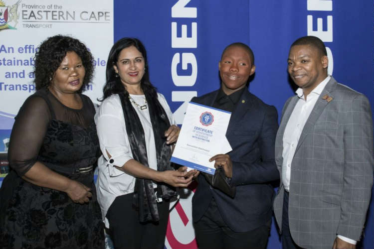 KwaNobuhle matric tops his Engen Maths and Science class