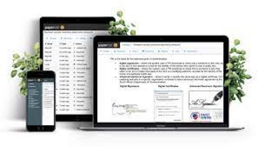 electronic signatures from papertrail in south africa