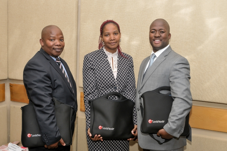 Advocates Mzamo Swana, Lungelwa Mncotsho-Boya and Zuko Badi are three of the four 2016 LexisNexis Advocate Advancement beneficiaries from the Mthatha branch of the Eastern Cape Society of Advocates.