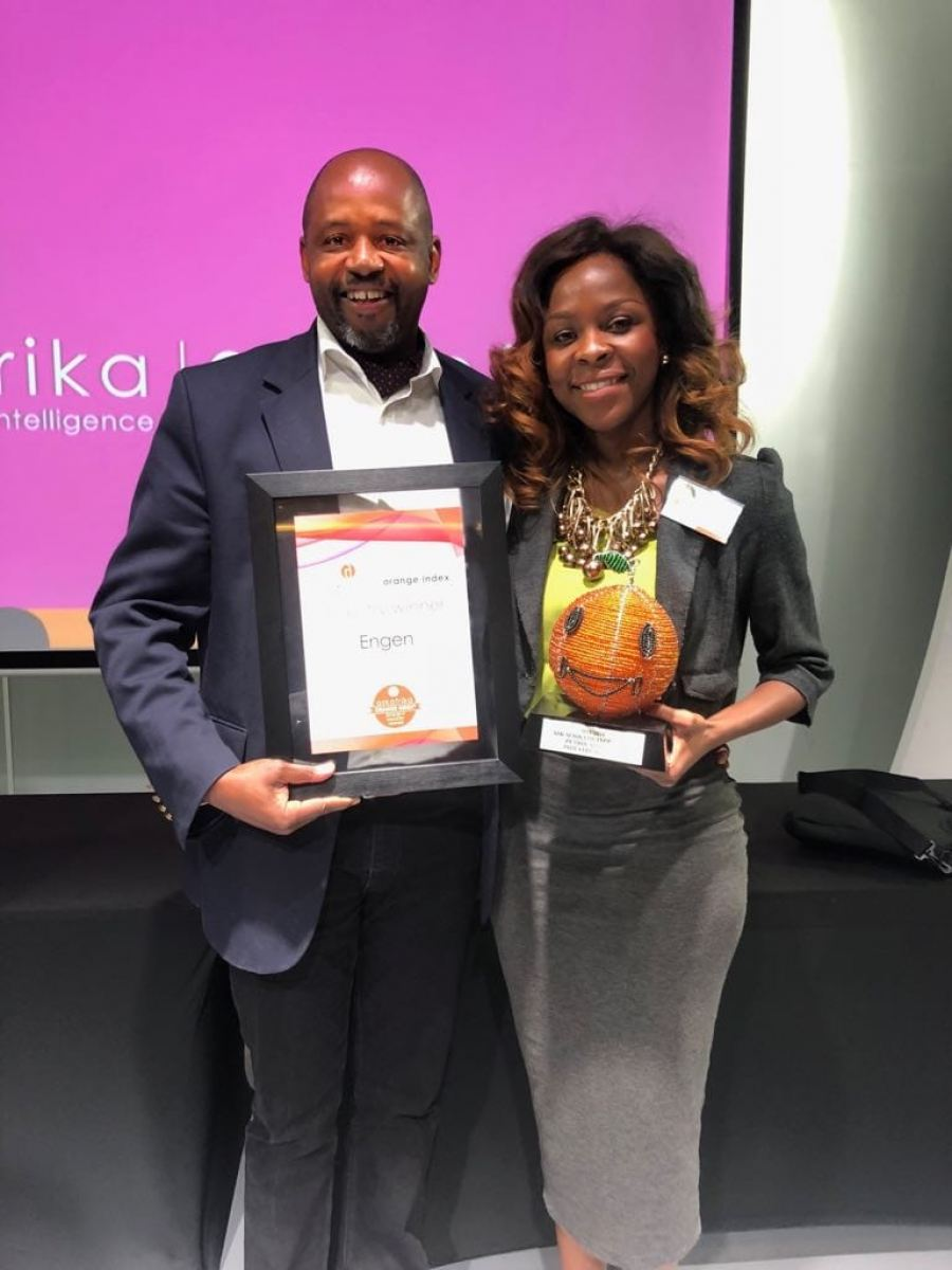 Engen's service excellence acknowledged with award