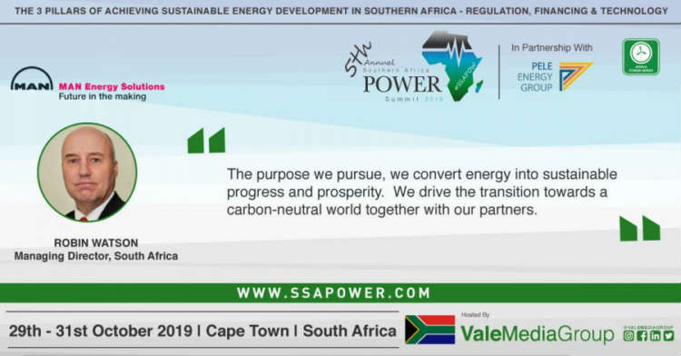 MAN Energy Solutions Announces Their Topic For The Southern Africa Power Summit Next Month In Cape Town! #SSAPOW19