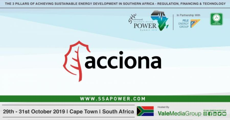 ACCIONA confirms as Silver Sponsor for the upcoming 5th Annual Southern Africa Power Summit 2019!