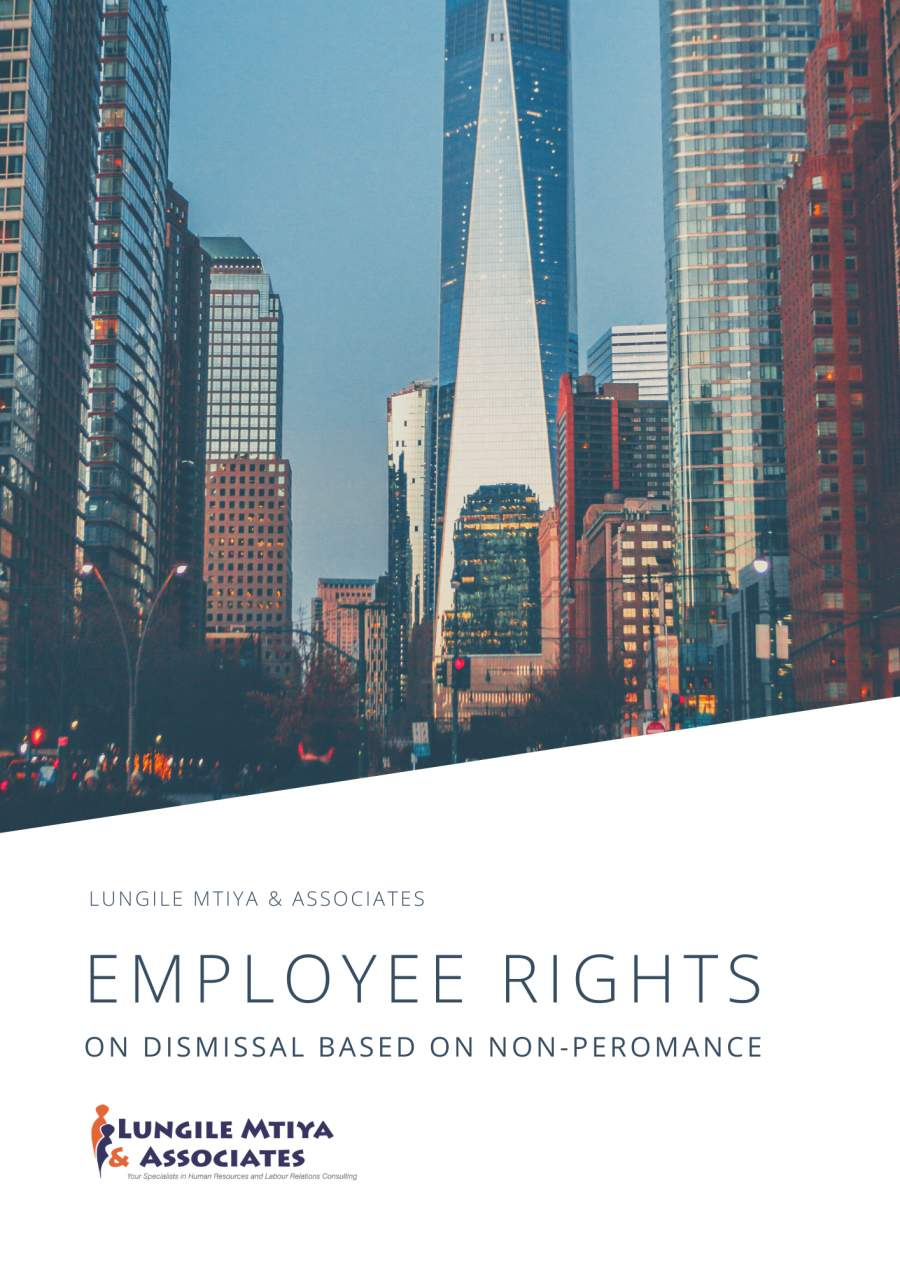 Employee Rights on dismissal based on non-performance