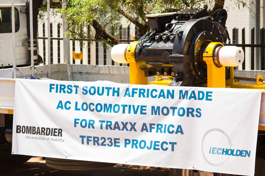 First South African Made Ac Locomotive Motors For Traxx Africa Tfr23e Project