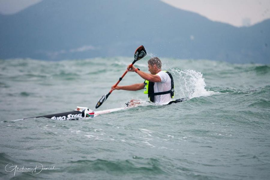 Jeep Team's Hank McGregor finished second in the World Surfski Series race, the Perth Doctor.