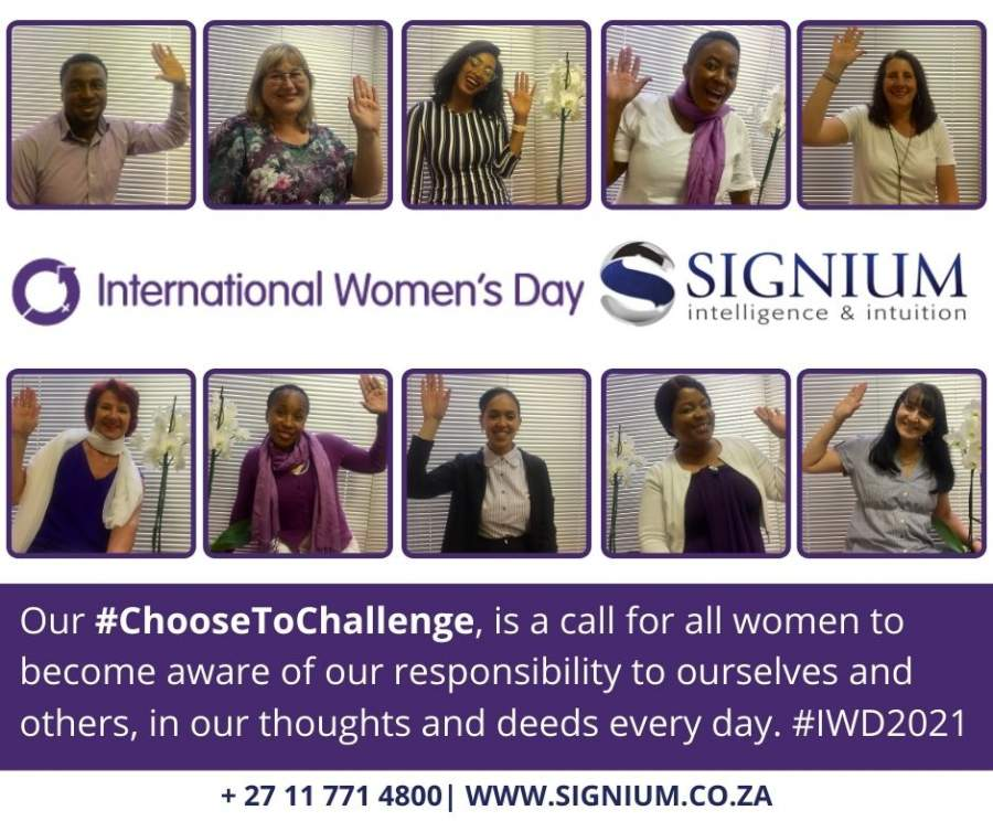 Signium Africa in support of IWD 2021