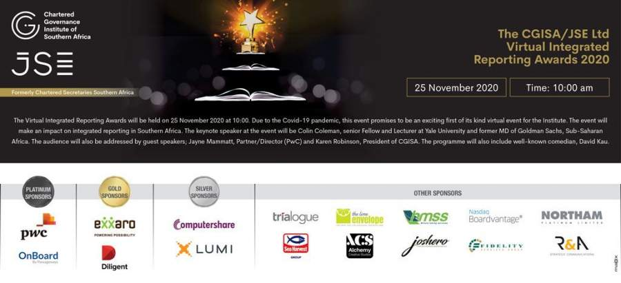The Cgisa hosts its Annual Integrated Reporting Awards in Partnership with The JSE