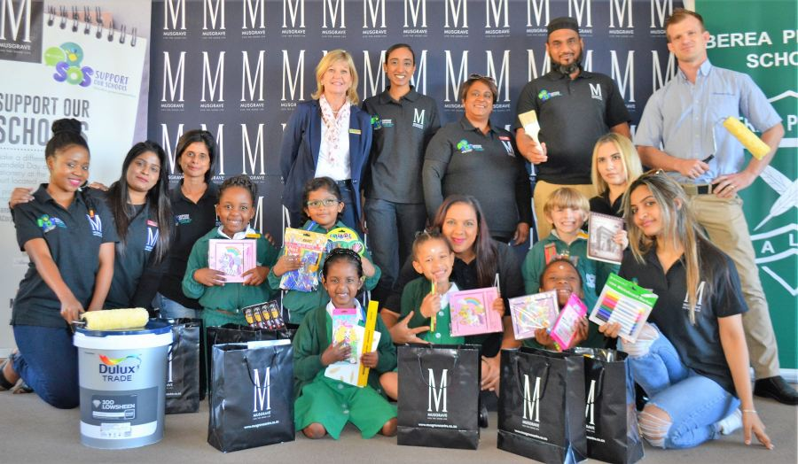 Musgrave Centre team seen at Berea Primary
