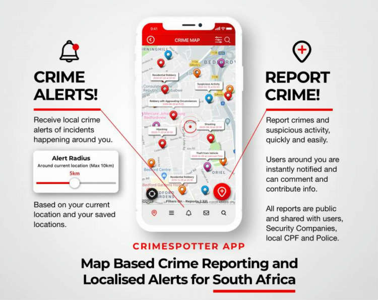 Crimespotter -Crime reporting and alert app launches in SA
