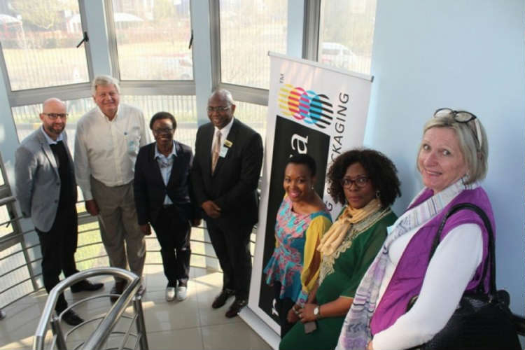 Mr Coenraad Pretorius – Novus Holdings; Mr Deon Joubert – Acting President- Printing SA; Ms Nomtandazo Thandi Moyo - Acting Chief Executive Officer - South African Ministry of Home Affairs: Government Printing Works (GPW), Mr Steve Thobela – CEO – Printing SA; Ms Stella Tembisa Ndabeni-Abrahams Deputy Minister of Telecommunications & Postal Services; Ms Feleng Yende – CEO – FP&M Seta and Ms Susi Moore – Business Director & Editor – Packaging Magazine