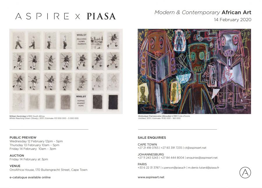 Auction of Modern & Contemporary African Art in Cape Town - 14 February 2020