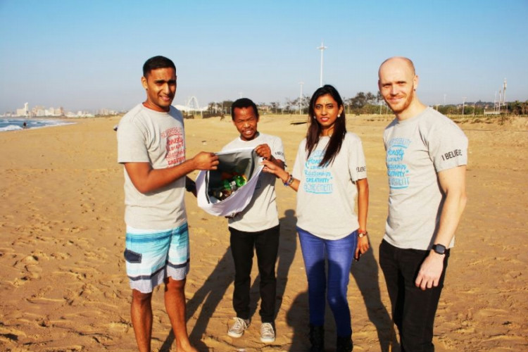 yron Govender and Donovan Pelser of Expand a Sign, with Sai Surajbali and Zamo Sithole.
