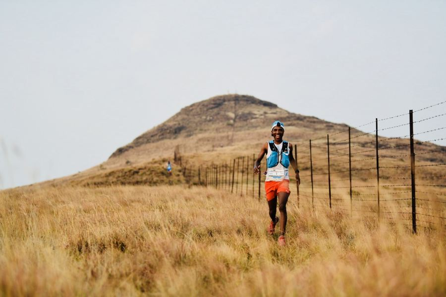 Thabang Madiba out on the 4 Peaks Course