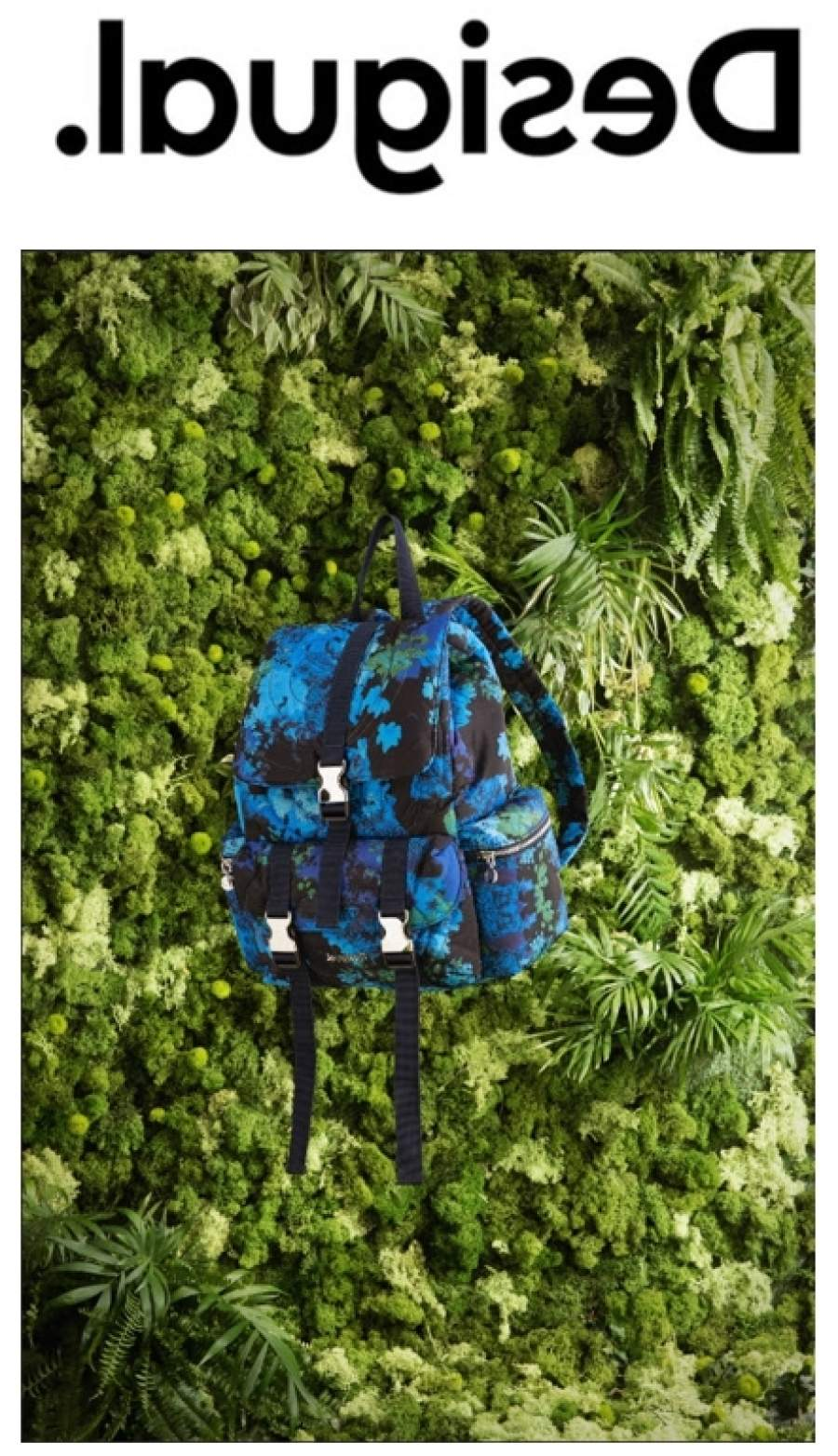 Pack Your Dreams in Desigual's Camoflower Backpack