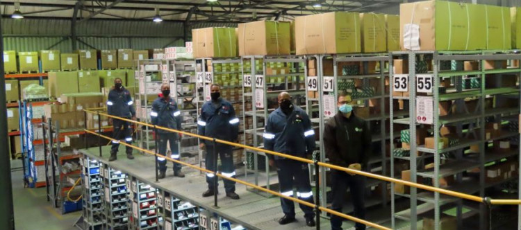 The HAW warehouse is fully stocked and COVID-19 compliant