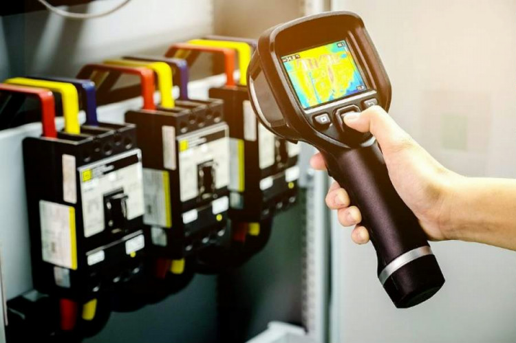 Thermal imaging surveys involve the use of thermal imaging cameras to visually represent surface temperatures of an object in order to identify thermal anomalies that indicate possible defects.