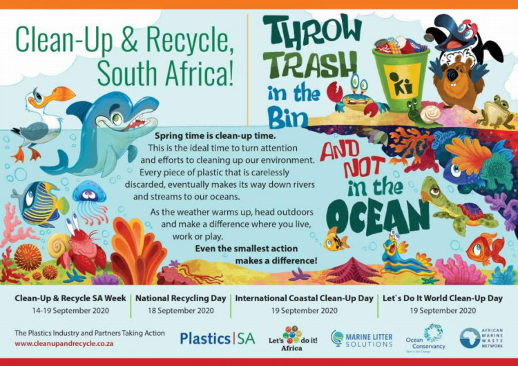 Clean-Up and Recycle SA week (14-19 september 2020) ECO-HEROES asked to wear masks and make a difference where they are