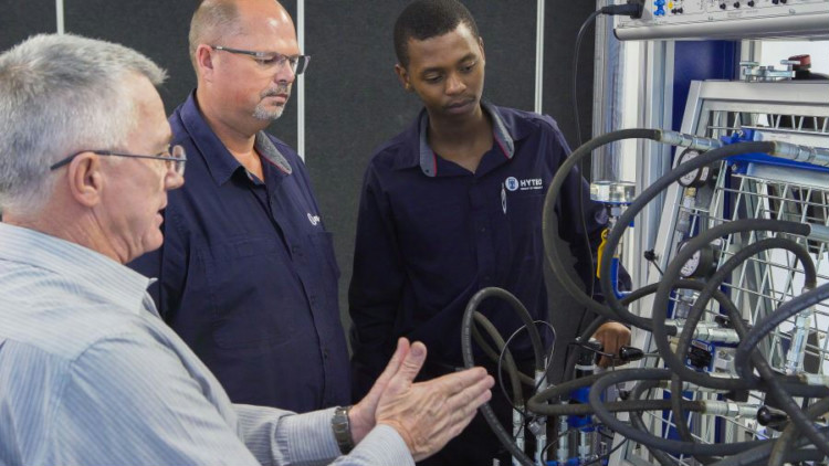 Hands-on training in progress at the Bosch Rexroth South Africa Training Department facilities