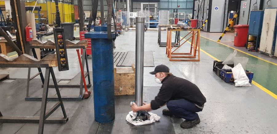 The cylinder repair work was executed during South Africa's national Covid-19 lockdown to minimise downtime at the plant.