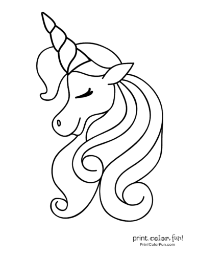 Easy Printable Unicorn Coloring Pages
