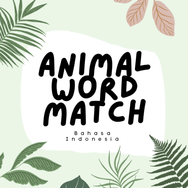 animal word match