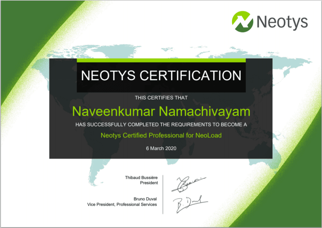 How to get certified in Neotys NeoLoad Professional Certification?