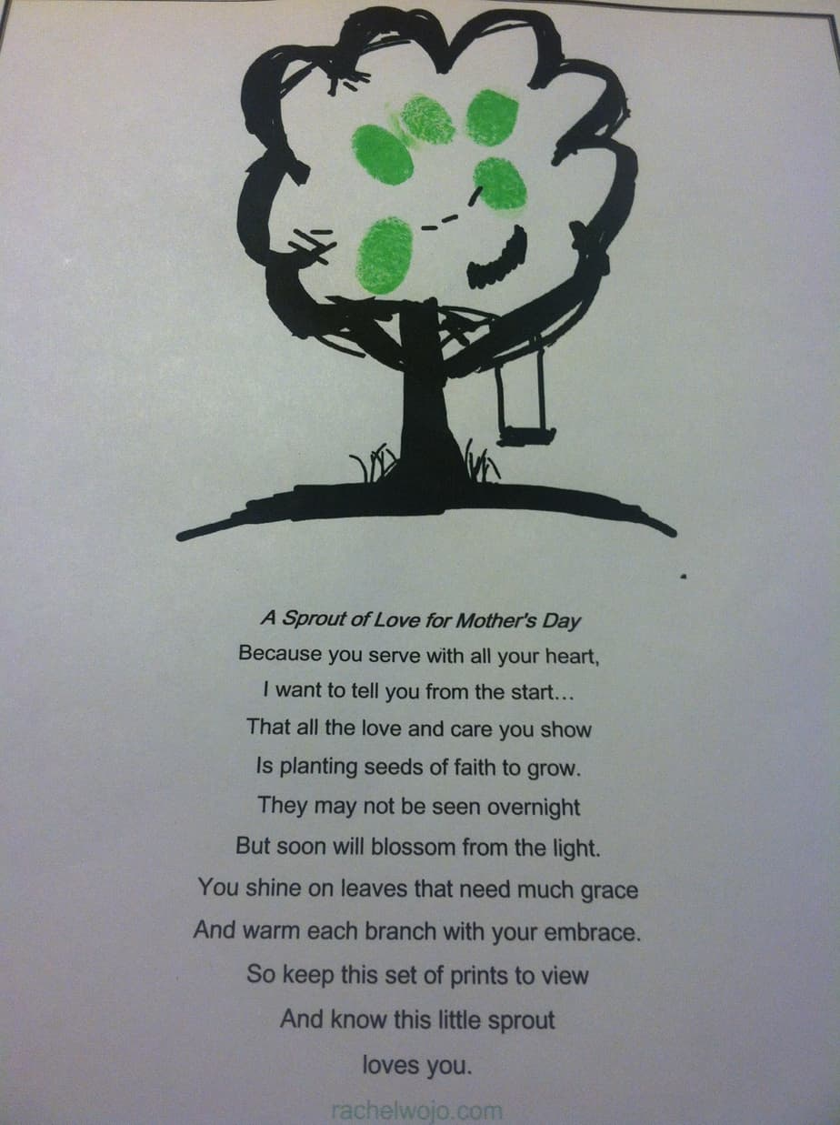 Sunday School Mothers Day Poems 3